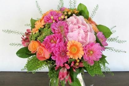 АртБукет, Нижний Новгоро, цветы, букет с герберами и георгинами
