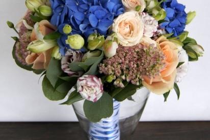 АртБукет, Нижний Новгород, цветы, букет невесты с гортензией, свадебный букет