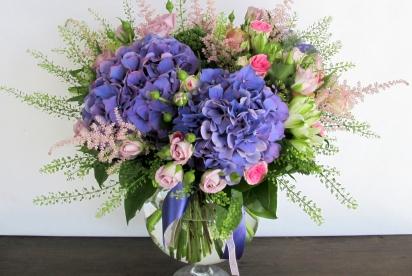 АртБукет, Нижний Новгород, цветы, букет с гортензией и розами