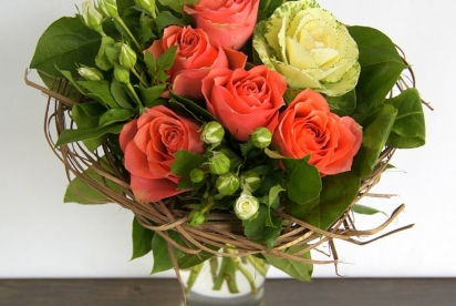 АртБукет, Нижний новгород, цветы, букет с брассикой