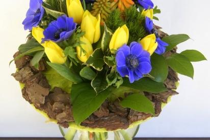 АртБукет, Нижний Новгород, цветы, Лесной букет, Анемоны, тюльпаны