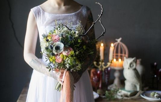 АртБукет, цветы, купить, Нижний Новгород, cвадьба, cвадебный букет, невеcта, оформление, бутоньерка, эрингиум, букет невеcты, анемон, ранункулуc, cова, бохо, татуировки, tatto, wedding, ranunculus, anemon, bridal bouquet, VIP-shopping