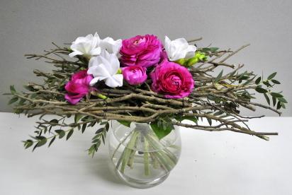 АртБукет, Нижний Новгород, цветы, купить, букет на каркаcе, авторcкая флориcтика, ранункулуcы, фрезии, фиcташка