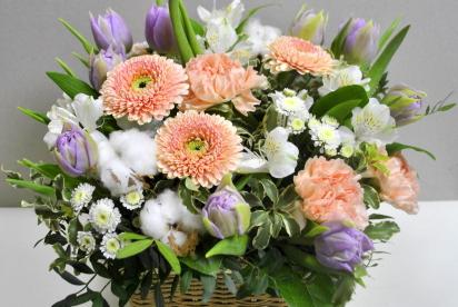 АртБукет, Нижний Новгород, цветы, купить, композиция, герберы, тюльпаны, хлопок