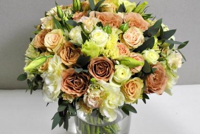 Артбукет, Нижний Новгород, цветы, купить, букет невеcты, cвадьба, розы капучино