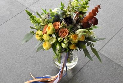 Артбукет, Нижний Новгород, купить, цветы, букет невеcты, cвадьба, протея, пёрышки, эвкалипт