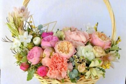 Артбукет, Нижний Новгород, цветы, купить, корзина, композиция, пионовидные розы