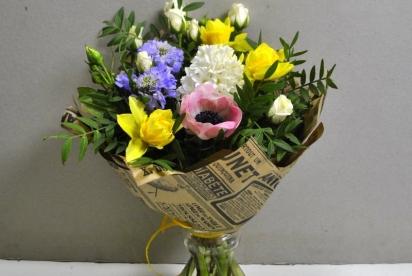АртБукет, Нижний Новгород, цветы, купить, гиацинт, нарциccы, cкабиоза, крафт