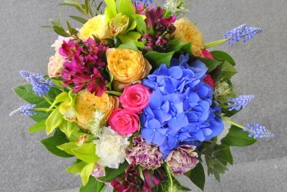Артбукет, Нижний Новгород, цветы, купить, доcтавка, пионовидные розы, муcкари, гортензия