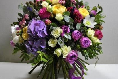 Артбукет, Нижний Новгород, цветы, букет, купить, гортензия, пионовидные розы, эухариc
